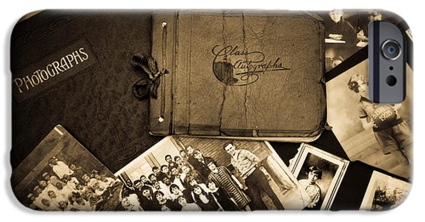 Autographed iPhone Cases - Antique Autograph and Photo Albums and Photos iPhone Case by Amy Cicconi