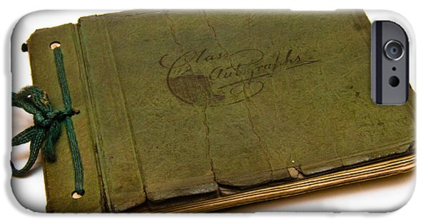 Autographed iPhone Cases - Antique Autograph Book iPhone Case by Amy Cicconi