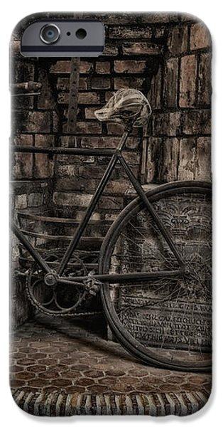 Antique Bicycle iPhone Case by Susan Candelario