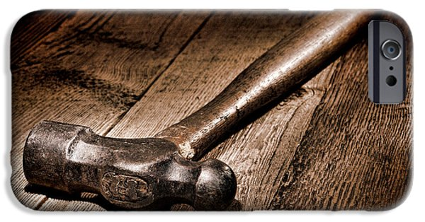 Handle iPhone Cases - Antique Blacksmith Hammer iPhone Case by Olivier Le Queinec