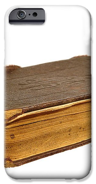 Antique Book iPhone Case by Olivier Le Queinec