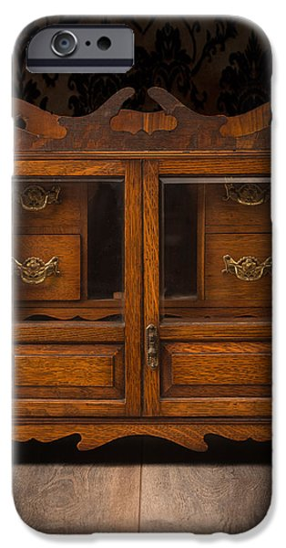 Furniture iPhone Cases - Antique Cabinet iPhone Case by Amanda And Christopher Elwell