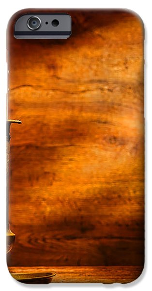 Antique Candlestick iPhone Case by Olivier Le Queinec