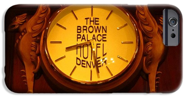 Antiques Jewelry iPhone Cases - Antique Clock at the Bown Palace Hotel iPhone Case by John Malone