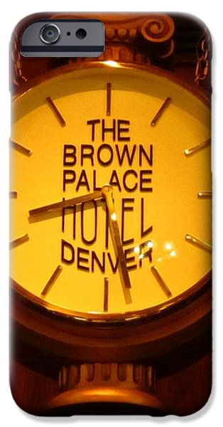 Antique Clock at the Bown Palace Hotel iPhone Case by John Malone