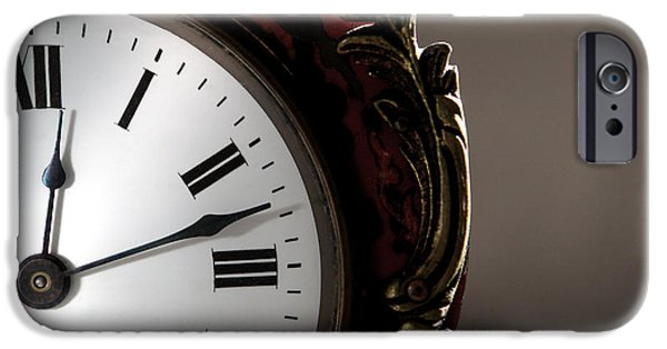Clock iPhone Cases - Antique Clock Face iPhone Case by Olivier Le Queinec