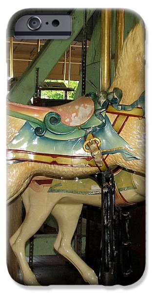 Antique Dentzel Menagerie Carousel Cat iPhone Case by Rose Santuci-Sofranko