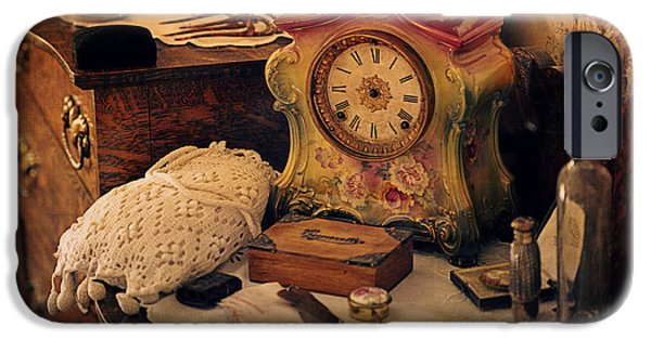 Jewellery Digital Art iPhone Cases - Antique Dresser  iPhone Case by Maria Angelica Maira