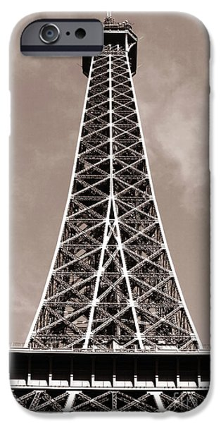 Antique Eiffel Tower iPhone Case by John Rizzuto