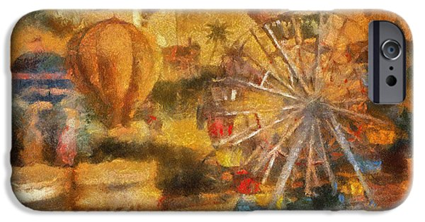 Toy Shop Digital iPhone Cases - Antique Ferris Wheel WDW Photo Art iPhone Case by Thomas Woolworth