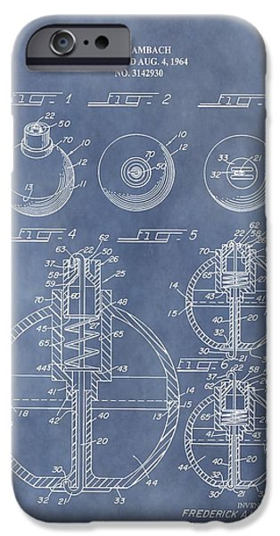 Gear Mixed Media iPhone Cases - Antique Fishing Bobber Patent iPhone Case by Dan Sproul