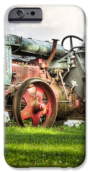 Antique Fordson Tractor - Americana iPhone Case by Gary Heller