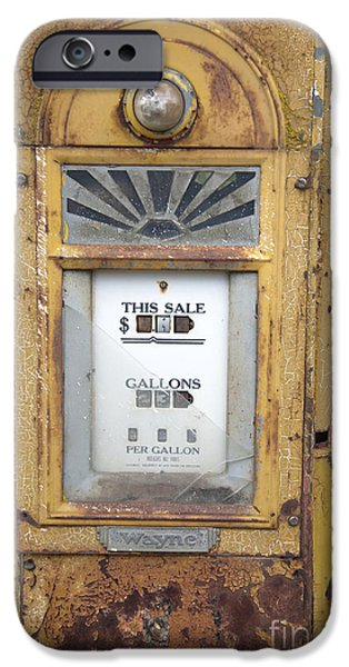 Antique Gas Pump iPhone Case by Peter French
