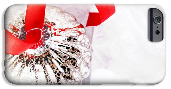 Tissue iPhone Cases - Antique glass bauble iPhone Case by Jane Rix