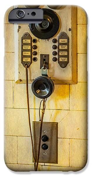 Electrical Equipment iPhone Cases - Antique Intercom iPhone Case by Paul Freidlund