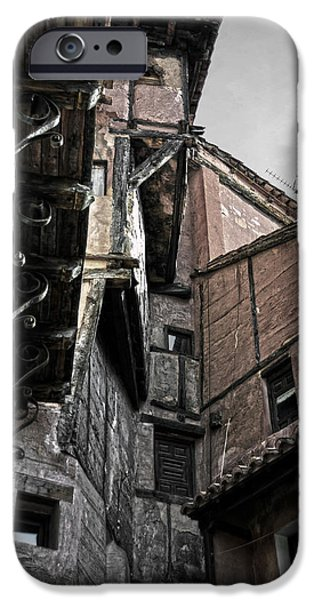 Antique Ironwork iPhone Cases - Antique ironwork wood and rustic walls iPhone Case by RicardMN Photography