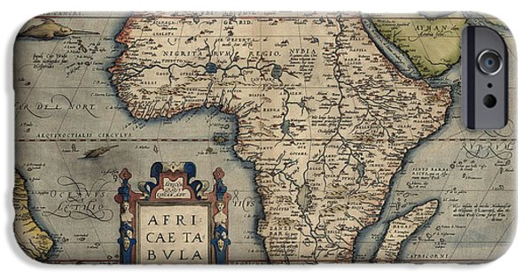 Recently Sold -  - Antiques iPhone Cases - Antique Map of Africa by Abraham Ortelius - 1570 iPhone Case by Blue Monocle
