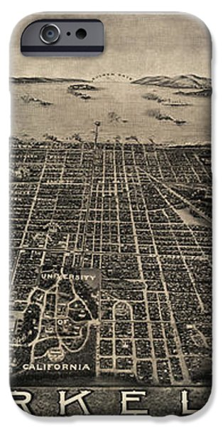 Antique Map of Berkeley California by Charles Green - circa 1909 iPhone Case by Blue Monocle