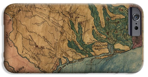 Texas Drawings iPhone Cases - Antique Map of Texas by Stephen F. Austin - circa 1822 iPhone Case by Blue Monocle