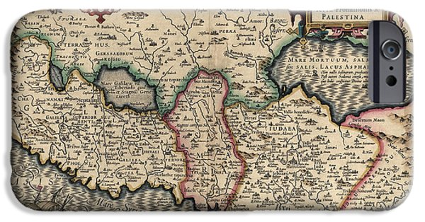 Israel iPhone Cases - Antique Map of the Holy Land by Guillaume Delisle - 1782 iPhone Case by Blue Monocle