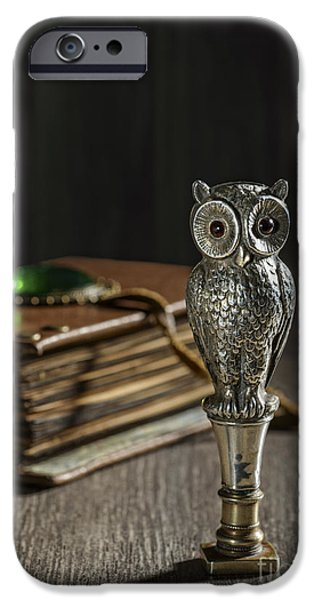 Straps iPhone Cases - Antique Owl Seal iPhone Case by Amanda And Christopher Elwell