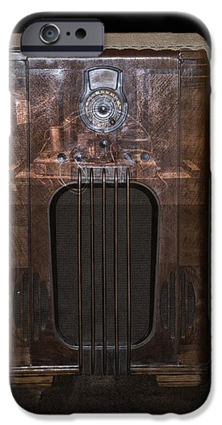 Electrical Component iPhone Cases - Antique Philco Radio Model 37 116 Merged V iPhone Case by Thomas Woolworth