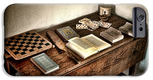 Historic Home iPhone Cases - Antique Play Desk iPhone Case by Olivier Le Queinec