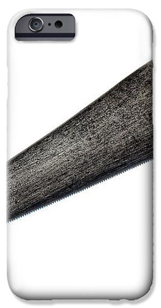 Antique Saw iPhone Case by Olivier Le Queinec