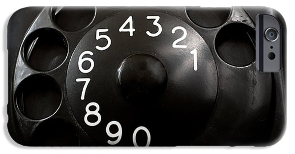 Wahl iPhone Cases - Antique Telephone Dial iPhone Case by Gunter Nezhoda