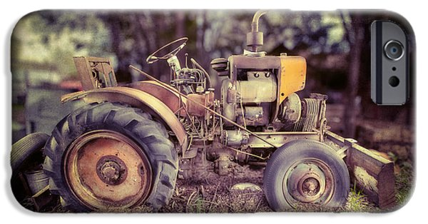 Machinery iPhone Cases - Antique Tractor Home Built iPhone Case by Yo Pedro