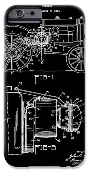 Recently Sold -  - Technology iPhone Cases - Antique Tractor Patent iPhone Case by Dan Sproul