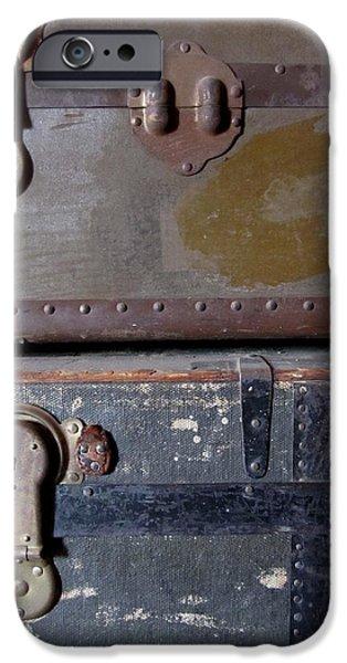Antique Trunks 5 iPhone Case by Anita Burgermeister