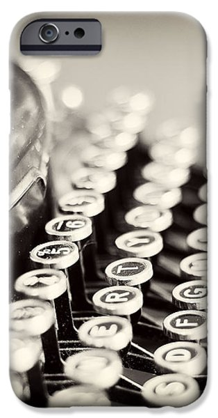 Antique typewriter iPhone Case by Ivy Ho