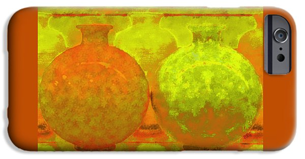 Ben Gertsberg Digital Art iPhone Cases - Antique Vases iPhone Case by Ben and Raisa Gertsberg