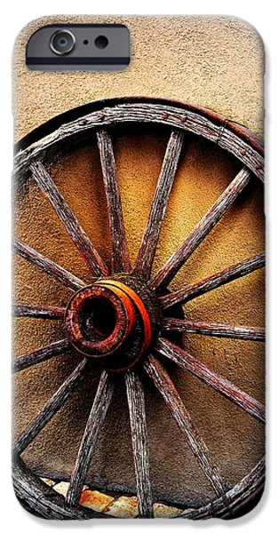 Rucker iPhone Cases -  Wagon Wheel iPhone Case by Barbara Chichester