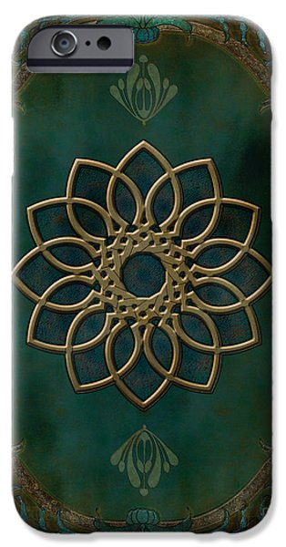 Bedros Mixed Media iPhone Cases - Antique Wall Mural iPhone Case by Bedros Awak