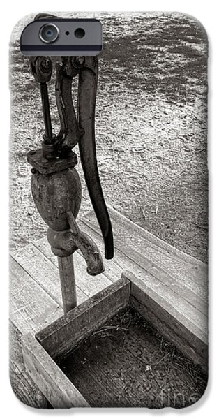 Crank iPhone Cases - Antique Water Fountain iPhone Case by Olivier Le Queinec