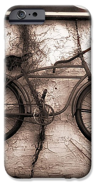 Antiques and The Old Bike iPhone Case by Bob Orsillo