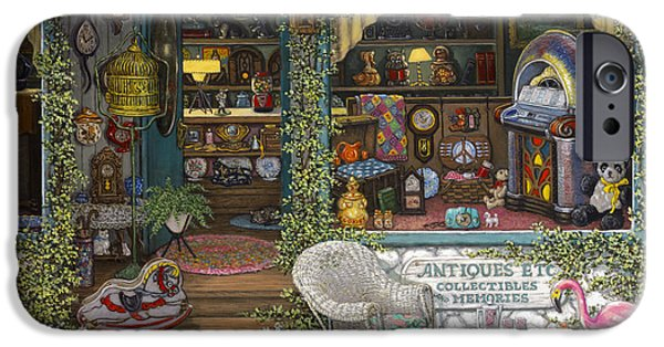Antiques iPhone Cases - Antiques Etc iPhone Case by Janet  Kruskamp