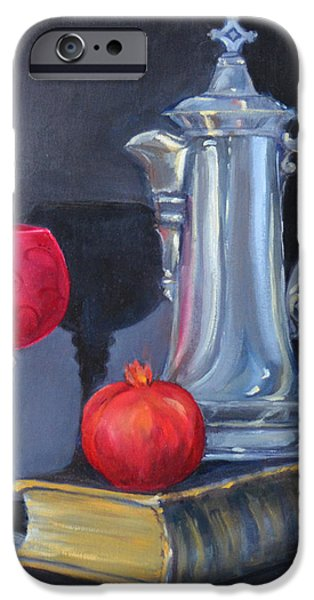 Old Pitcher Paintings iPhone Cases - Antiquities iPhone Case by Carla Parris