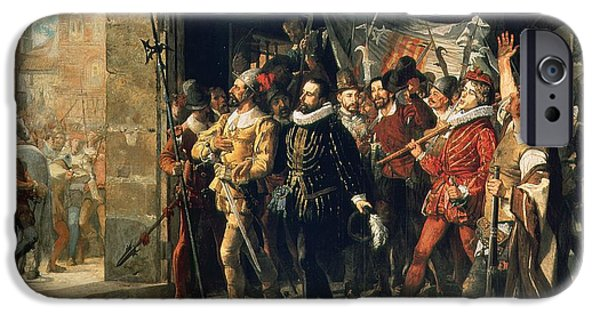 Politician iPhone Cases - Antonio Perez 1540-1611 Released From Prison By The Rebels In 1591 Oil On Canvas iPhone Case by Augustus or Augusto Ferran