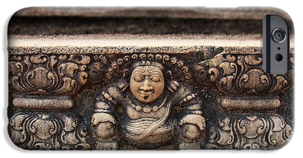 Ruins iPhone Cases - Anuradhapura carving iPhone Case by Jane Rix