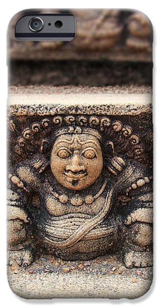 Anuradhapura carving iPhone Case by Jane Rix