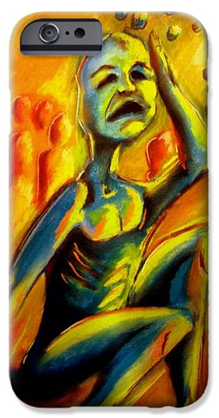 Michael Pastels iPhone Cases - Anxiety iPhone Case by Michael Alvarez