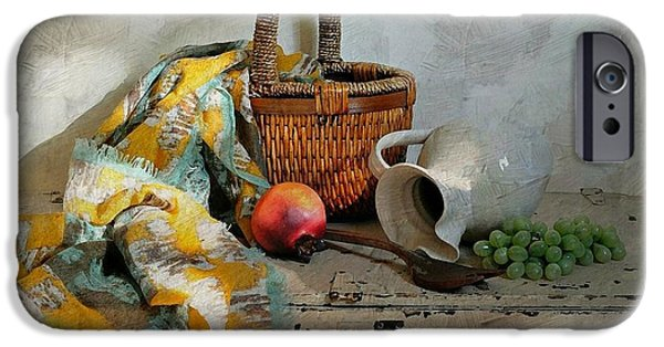 Still Life With Old Pitcher iPhone Cases - Any Day iPhone Case by Diana Angstadt