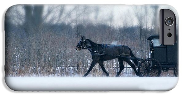 Horse And Buggy Digital iPhone Cases - Any Given Sunday iPhone Case by Michele Thielke