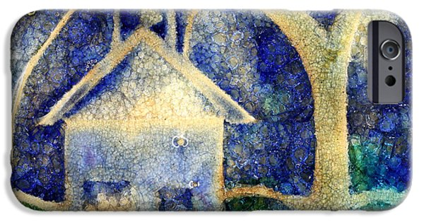 Town Glass Art iPhone Cases - Anyone Lived In A Pretty How Town iPhone Case by Jane Autry