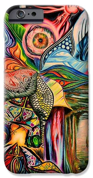 Vibrant Colors Drawings iPhone Cases - Anything iPhone Case by Martin Roskom