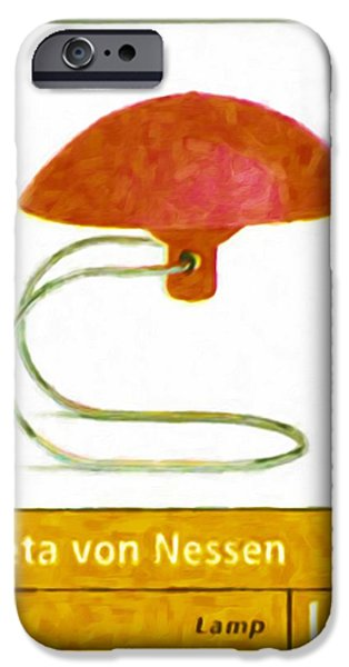 Old Pitcher Paintings iPhone Cases - Anywhere lamp iPhone Case by Lanjee Chee