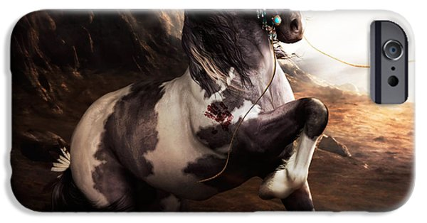 Paint iPhone Cases - Apache Blue iPhone Case by Shanina Conway